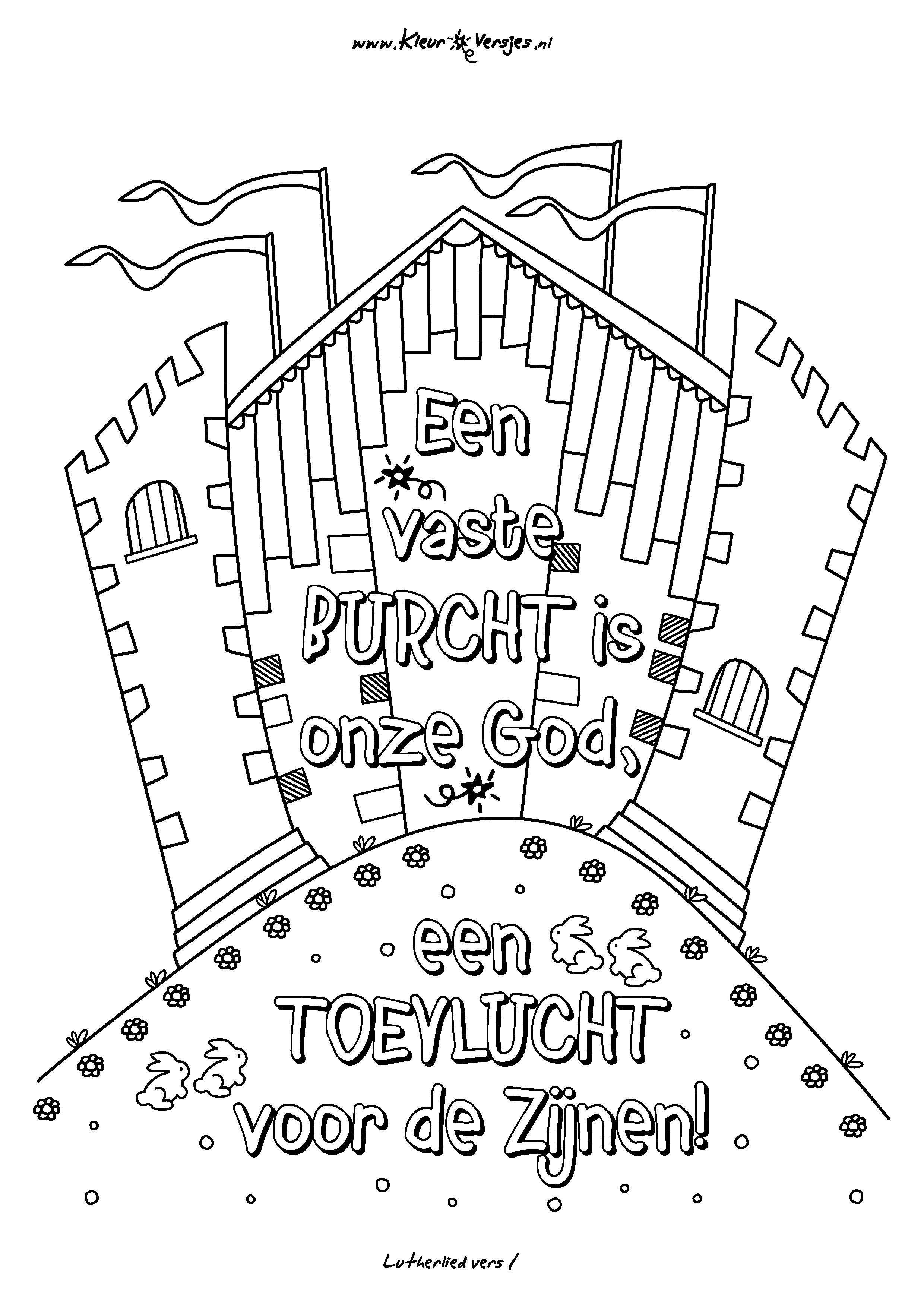 024 Een Vaste Burcht Is Onze God Kleurversjes Nl