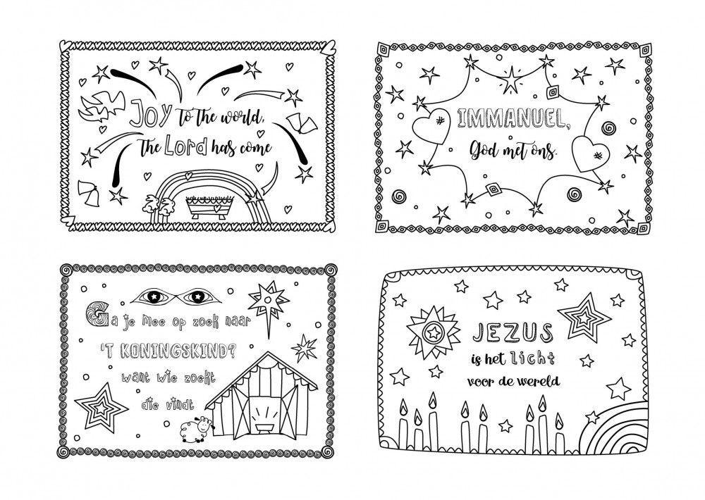 12 kerstkaarten kleurversjes nl