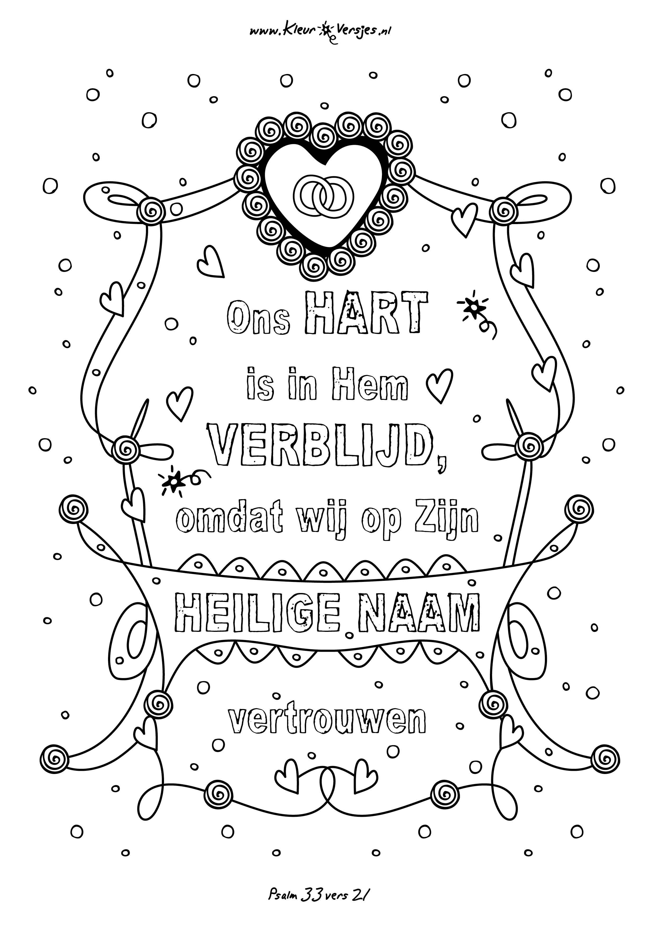 kleurplaten nl instagram 015 ons hart is in hem verblijd