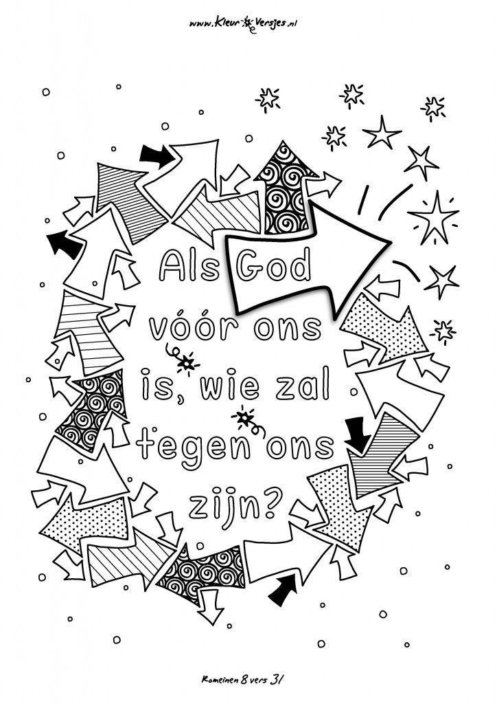 023 als god voor ons is kleurversjes nl