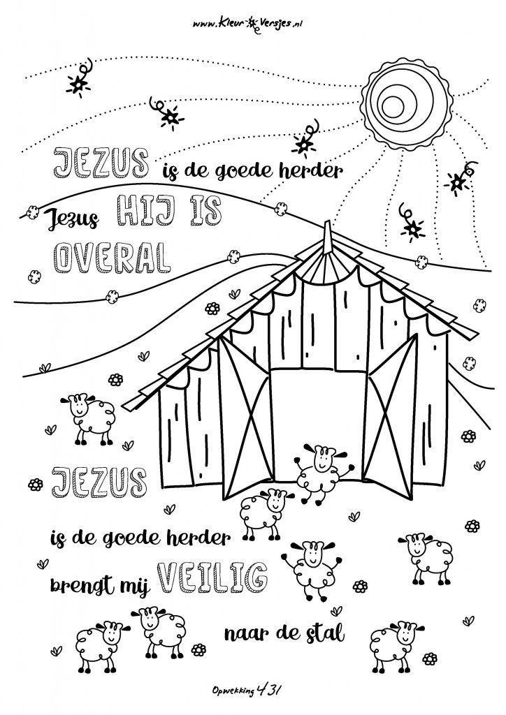025 jezus is de goede herder kleurversjes nl