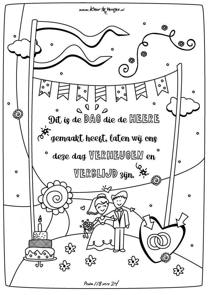 Christelijke Kleurplaat Liefde 044 Dit Is De Dag Die De Heere Gemaakt Heeft