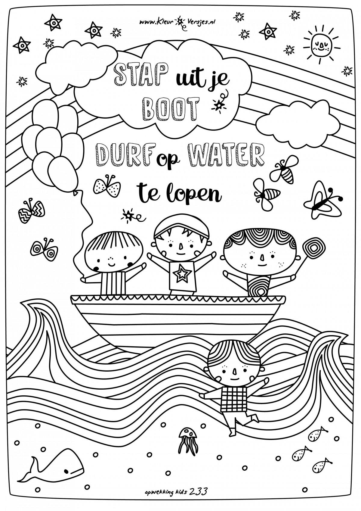Afbeeldingen Kleurplaten Pasen 050 Stap Uit Je Boot Durf Op Water Te Lopen