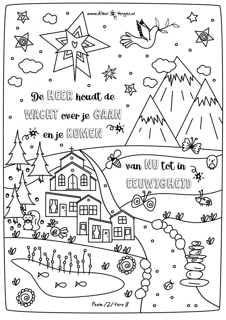 Eerste Advent Kleurplaat 065 De Heer Houdt De Wacht Kleurversjes Nl