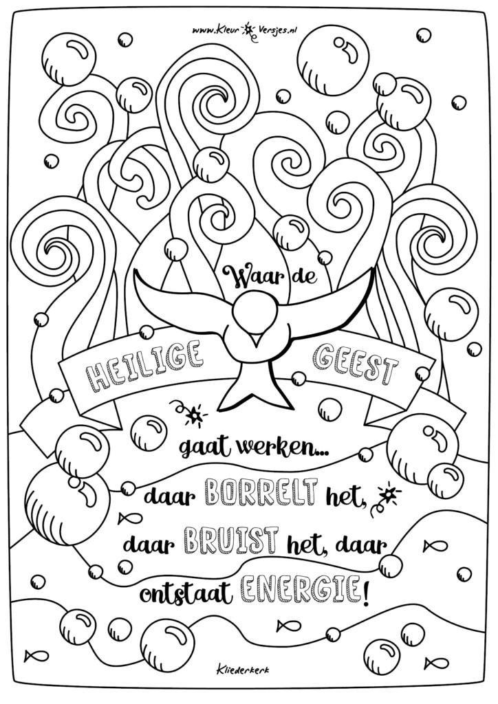 Kerst Kleurplaten Zoeken 076 Waar De Heilige Geest Gaat Werken Kleurversjes Nl