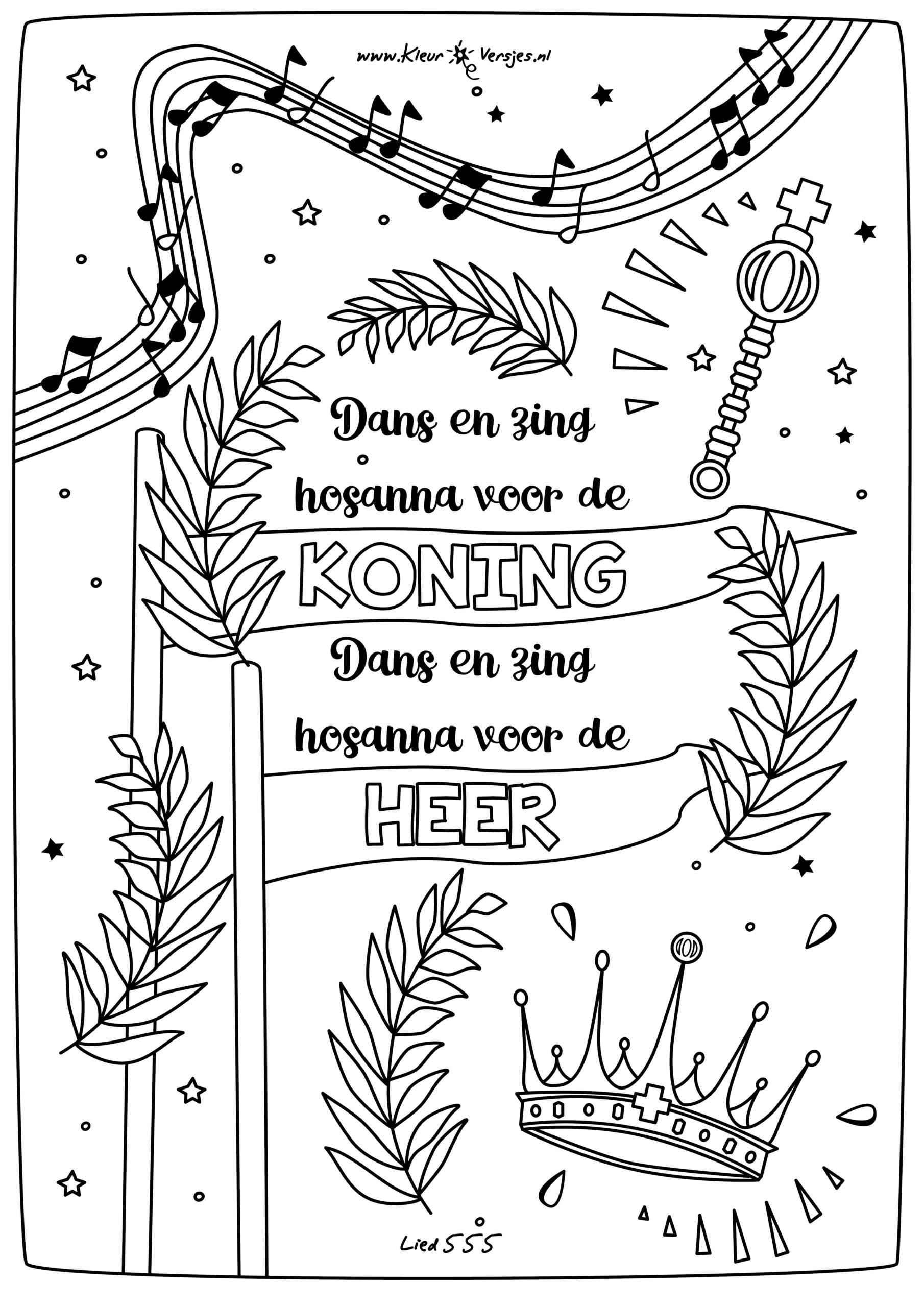 085 dans en zing hosanna voor de koning kleurversjes nl